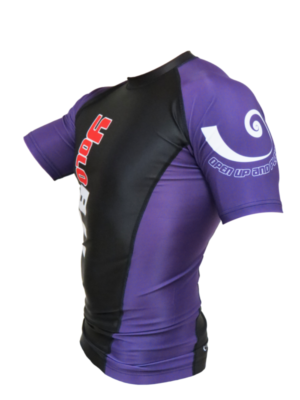 Short Sleeve Rashguard Purple side